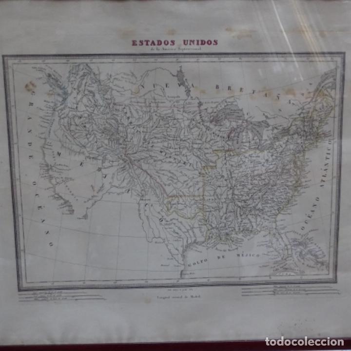 GRABADO DE ESTADOS UNIDOS DE LA AMÉRICA SEPTENTRIONAL.PABLO ALABERN(GRABADOR)1834. (Arte - Cartografía Antigua (hasta S. XIX))