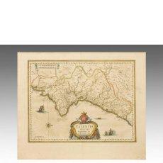 Arte: WILLEM JANSZOON BLAEU VALENTIA REGNUM. CONTESTANI. PTOL. EDENTANI, PLIN.. Lote 152422026