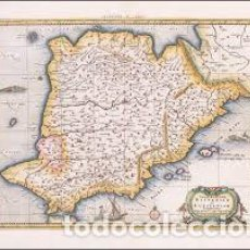 Arte: TAB. II EUROPAE HISPANIAM AC LUSITANANIUM COMPLECTENS. Lote 152426758