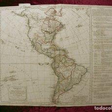 Arte: GRAN MAPA DE AMÉRICA DEL NORTE, CENTRO Y SUR, HACIA 1799. VAUGONDY/DELAMARCHE. Lote 152455037