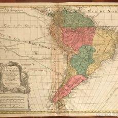 Arte: MAPA DE AMÉRICA DEL SUR, 1772. TOBIAS Y GUSTAV CONRAD LOTTER. Lote 152476022