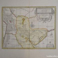 Arte: GRAN MAPA DE URUGUAY, PARAGUAY, ARGENTINA,..CA. 1700. JANSSONIUS BLAEU/SCHENK Y VALK. Lote 152522284