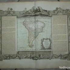 Arte: GRAN MAPA DE AMÉRICA DEL SUR, 1766. BRION DE LA TOUR/DESNOS. Lote 152533474