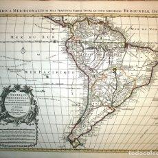 Arte: GRAN MAPA DE AMÉRICA DEL SUR, 1742. DELISLE/COVENS Y MORTIER. Lote 152558074