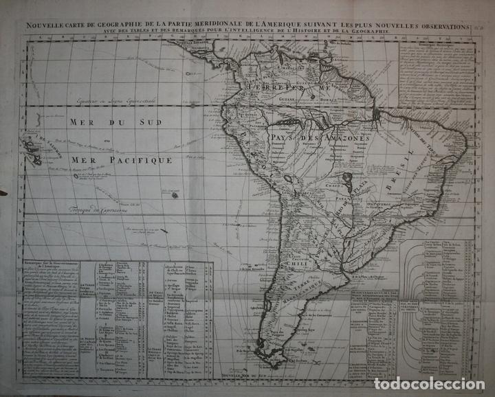 GRAN MAPA DE AMÉRICA, 1707. CHATELAIN FRERES/GUEDEVILLE (Arte - Cartografía Antigua (hasta S. XIX))