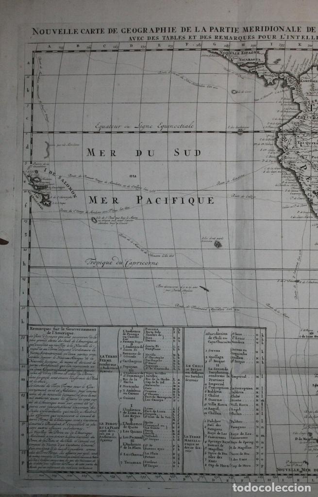 Arte: Gran Mapa de América, 1707. Chatelain freres/Guedeville - Foto 2 - 152606740