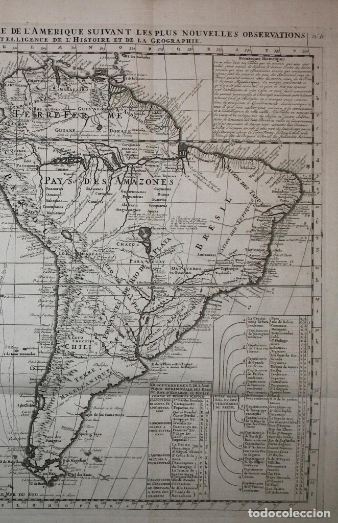 Arte: Gran Mapa de América, 1707. Chatelain freres/Guedeville - Foto 3 - 152606740