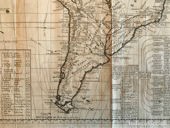 Arte: Gran Mapa de América, 1707. Chatelain freres/Guedeville - Foto 9 - 152606740