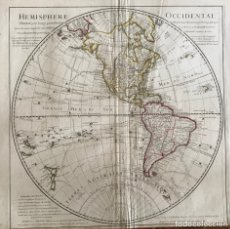 Arte: GRAN MAPA DE AMÉRICA DEL NORTE, CENTRO Y SUR, 1782/DELISLE/BUACHE/DEZAUCHE. Lote 152644617