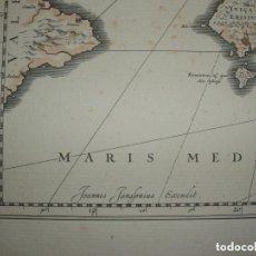 Arte: JOHANNES JANSSONIUS - INSULAE BALEARIDES ET PYTIUSAE. Lote 152772926