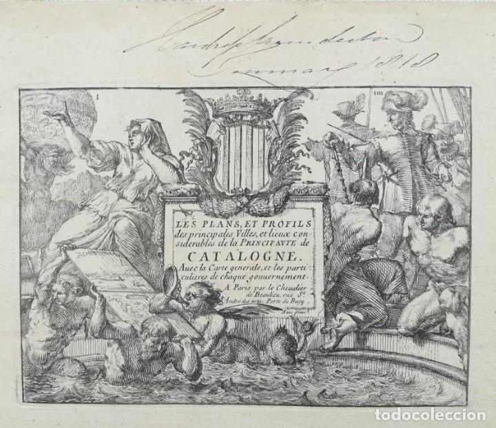 PORTADA LIBRO MAPAS Y GRABADOS CIUDADES DE CATALUNYA - BEAULIEU - AÑO 1707 (Arte - Cartografía Antigua (hasta S. XIX))