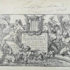 Arte: PORTADA LIBRO MAPAS Y GRABADOS CIUDADES DE CATALUNYA - BEAULIEU - AÑO 1707. Lote 153806658