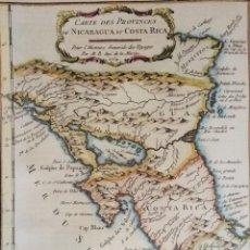 Arte: NICARAGUA, COSTA RICA… BELLIN, 1754, CARTE DES PROVINCES DE NICARAGUA ET COSTA RICA. Lote 153971006