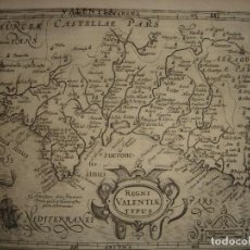 Arte: MARAVILLOSO MAPA REINO DE VALENCIA,ORIGINAL, AMSTERDAM,1610,MERCATOR/HONDIUS, ANTIGUEDAD 408 AÑOS. Lote 154176950