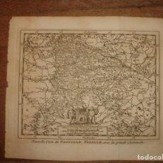 Arte: MAPA DE CASTILLA LA VIEJA, 1715, ORIGINAL, LEIDEN, VAN DER AA, ESPLÉNDIDO ESTADO. Lote 154182214