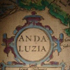 Arte: RARÍSIMA EDICIÓN MAPA ANDALUCÍA OCCIDENTAL, ORIGINAL, LONDRES,1635, MERCATOR / HONDIUS / SPARKE.. Lote 154183126