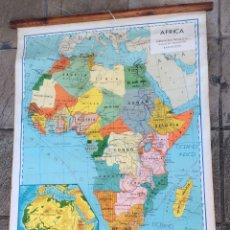 Arte: MAPA DE ESCUELA DE ÁFRICA AÑO 1959,SEIX BARRAL IDEAL COLECCIONISTAS. Lote 154388506