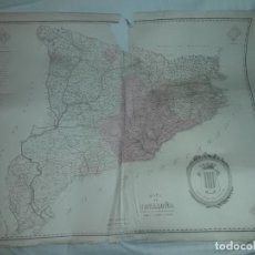 Arte: ANTIGUO Y RARO MAPA DE CATALUÑA DIVIDIDO EN SUS ACTUALES PROVINCIAS RAMON YNDÁR AÑO 1850. Lote 154962506