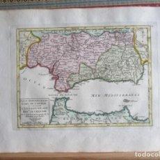 Arte: 1749-MAPA ORIGINAL.ANDALUCÍA.RONDA.ALAMA.ALCALA.JAEN.CAZORLA.ANDUJAR.ALMARÍA.SALOBREÑA.CEUTA.GUADIX.. Lote 155573198