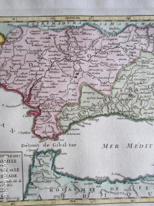 Arte: 1749-MAPA ORIGINAL.ANDALUCÍA.RONDA.ALAMA.ALCALA.JAEN.CAZORLA.ANDUJAR.ALMARÍA.SALOBREÑA.CEUTA.GUADIX. - Foto 3 - 155573198