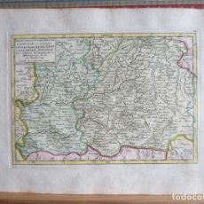 Arte: 1749-MAPA ORIGINAL.CASTILLA LEÓN MANCHA.EXTREMADURA.ALMAGRO.ALCANTARA.MERIDA.AVILA.CUENCA.RODA.ORGAZ. Lote 155575174