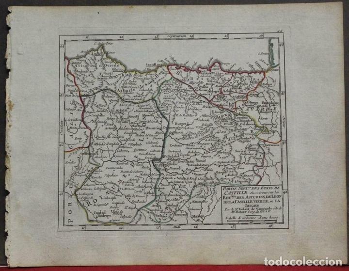MAPA DE ASTURIAS, CANTABRIA, PAIS VASCO, CASTILLA,...(ESPAÑA),1748. ROBERT DE VAUGONDY (Arte - Cartografía Antigua (hasta S. XIX))
