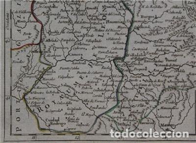 Arte: Mapa de Asturias, Cantabria, Pais Vasco, Castilla,...(España),1748. Robert de Vaugondy - Foto 6 - 156639497