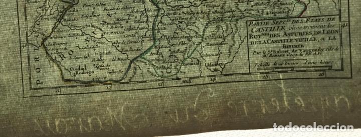 Arte: Mapa de Asturias, Cantabria, Pais Vasco, Castilla,...(España),1748. Robert de Vaugondy - Foto 8 - 156639497