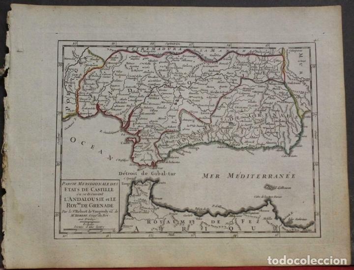 MAPA DE ANDALUCÍA (ESPAÑA), 1748. ROBERT DE VAUGONDY (Arte - Cartografía Antigua (hasta S. XIX))