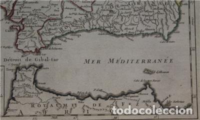 Arte: Mapa de Andalucía (España), 1748. Robert de Vaugondy - Foto 6 - 156643418