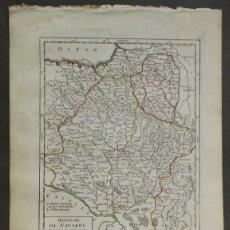 Art: MAPA DE NAVARRA (ESPAÑA), 1748. ROBERT DE VAUGONDY. Lote 156644684