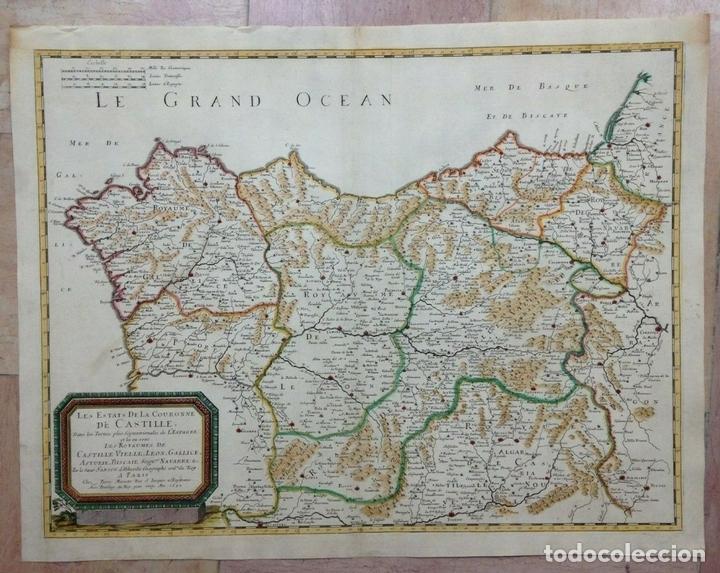 GRAN MAPA DE GALICIA, ASTURIAS, LEÓN, CANTABRIA, PAÍS VASCO... (ESPAÑA)1652. SANSON/MARIETTE/SOMMER (Arte - Cartografía Antigua (hasta S. XIX))