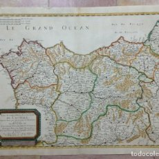 Arte: GRAN MAPA DE GALICIA, ASTURIAS, LEÓN, CANTABRIA, PAÍS VASCO... (ESPAÑA)1652. SANSON/MARIETTE/SOMMER. Lote 156877237