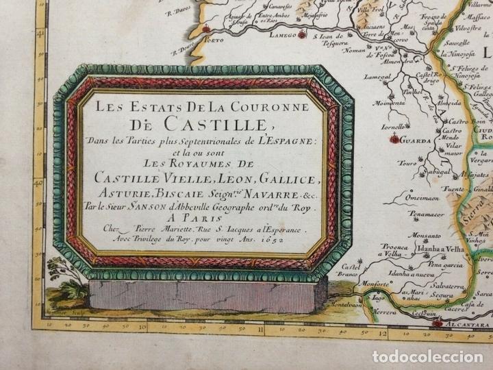 Arte: Gran mapa de Galicia, Asturias, León, Cantabria, País Vasco... (España)1652. Sanson/Mariette/Sommer - Foto 2 - 156877237