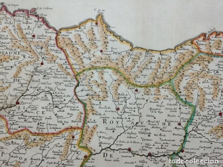Arte: Gran mapa de Galicia, Asturias, León, Cantabria, País Vasco... (España)1652. Sanson/Mariette/Sommer - Foto 4 - 156877237
