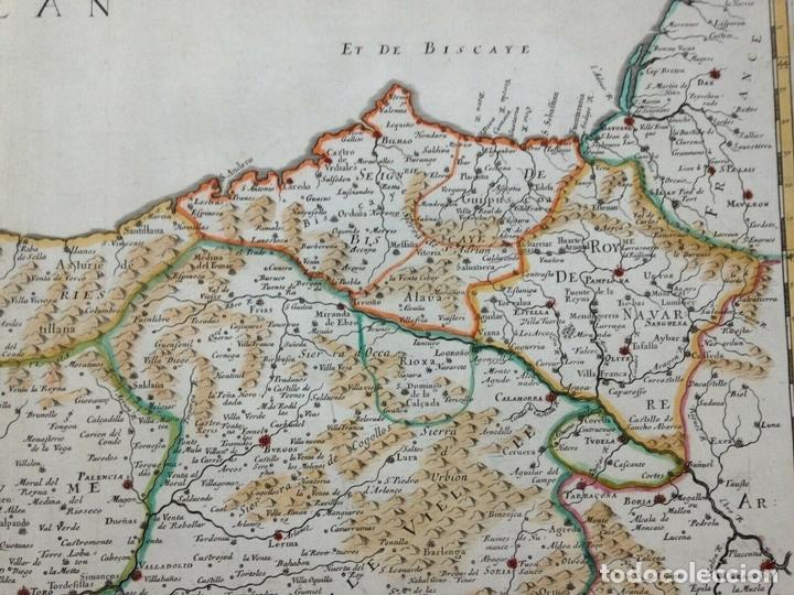Arte: Gran mapa de Galicia, Asturias, León, Cantabria, País Vasco... (España)1652. Sanson/Mariette/Sommer - Foto 5 - 156877237