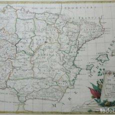 Arte: MAPA DE ESPAÑA Y PORTUGAL, 1775. ANTONIO ZATTA. Lote 156966076