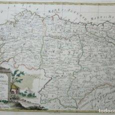 Arte: MAPA DE GALICIA, ASTURIAS, CANTABRIA, PAIS VASCO, .... (ESPAÑA), 1776. ANTONIO ZATTA. Lote 156969512