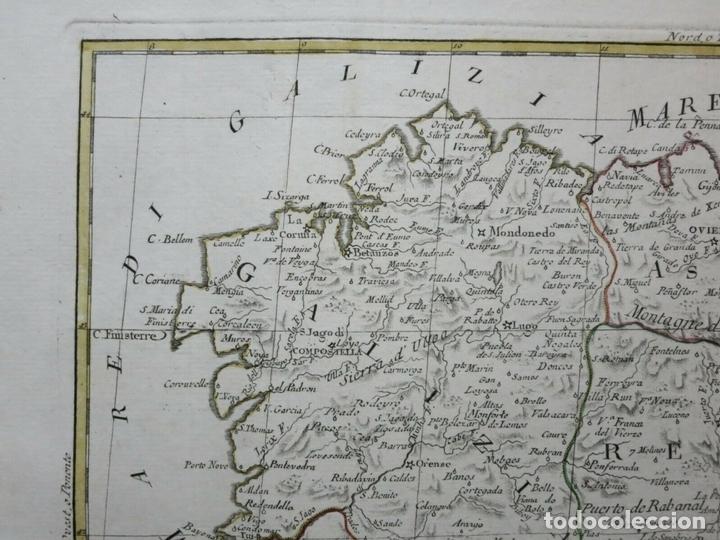 Arte: Mapa de Galicia, Asturias, Cantabria, Pais Vasco, .... (España), 1776. Antonio Zatta - Foto 4 - 156969512
