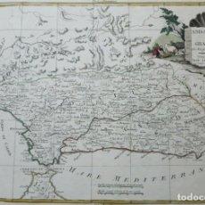 Arte: MAPA DE ANDALUCÍA (ESPAÑA), 1776. ANTONIO ZATTA. Lote 156975062