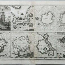 Arte: VISTAS Y PLANOS DE FORTALEZAS DE PORTUGAL Y ESPAÑA (EUROPA), HACIA 1680. CAREL ALLARD. Lote 157092274