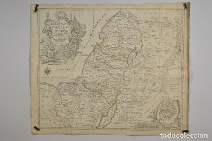 ANTIGUO RARO Y MAGNIFICO MAPA ,GRABA SAGRADO PALESTINA TOBIAS LOTTER,AÑO 1820 DIM 52X62.5 CM 1.160.E (Arte - Cartografía Antigua (hasta S. XIX))