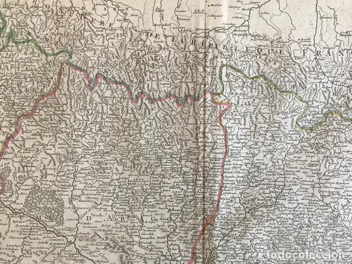 Arte: Gran mapa de Cataluña, Aragón y Navarra (España), hacia 1752. Robert de Vaugondy/Delamarche - Foto 6 - 157914650