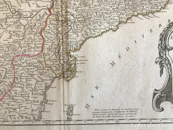 Arte: Gran mapa de Cataluña, Aragón y Navarra (España), hacia 1752. Robert de Vaugondy/Delamarche - Foto 8 - 157914650