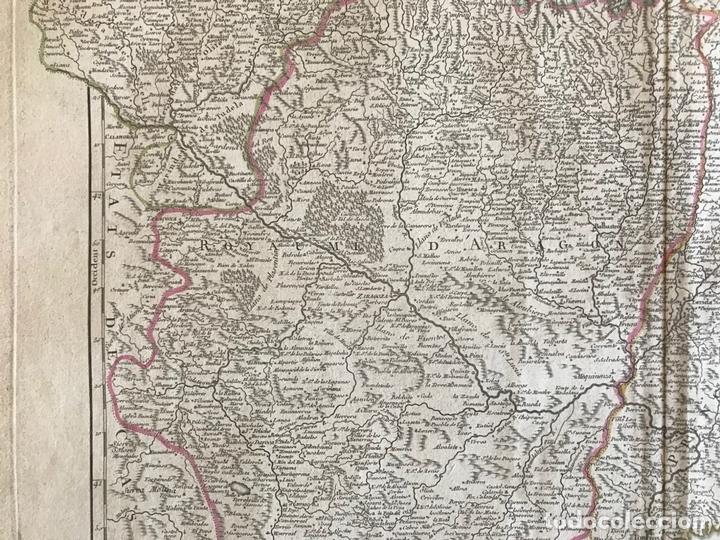 Arte: Gran mapa de Cataluña, Aragón y Navarra (España), hacia 1752. Robert de Vaugondy/Delamarche - Foto 10 - 157914650