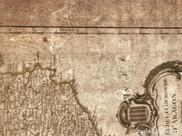 Arte: Gran mapa de Cataluña, Aragón y Navarra (España), hacia 1752. Robert de Vaugondy/Delamarche - Foto 12 - 157914650