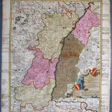Arte: TOTIUS ALSATIAE NOVISSIMA TABULA, QUA SIMUL SUNDGOVIA, BRISIGAVIA, .... VISSCHER, NICOLAS. Lote 158117962