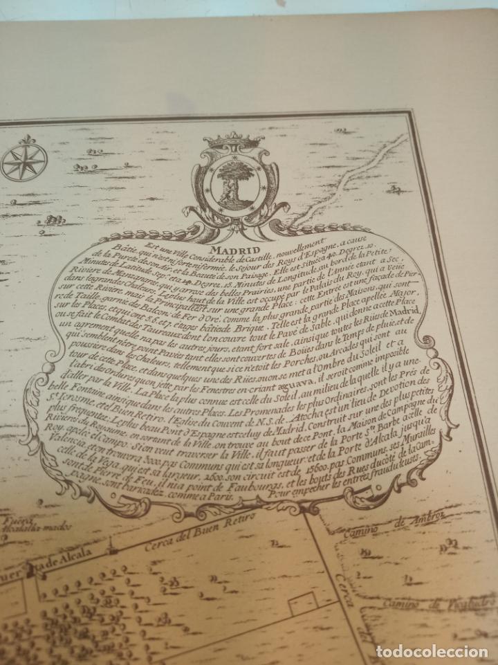 Arte: Plano de la villa de Madrid. P. Starckman Scrip.1706. 40 x 28. Bien conservado. - Foto 3 - 158122766