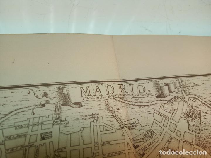 Arte: Plano de la villa de Madrid. P. Starckman Scrip.1706. 40 x 28. Bien conservado. - Foto 4 - 158122766