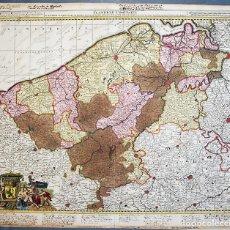 Arte: VISSCHER, NICOLAS - FLANDRIAE COMITATUS IN EJUSDEM SUBJACENTES DITIONES ACCURATISSIME DIVISUS..... Lote 158125354